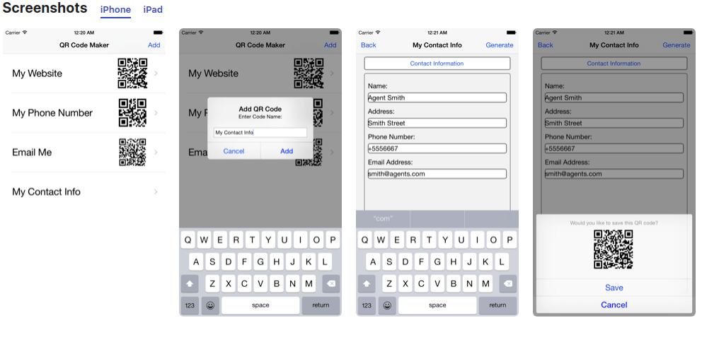 membuat kode qr di iphone