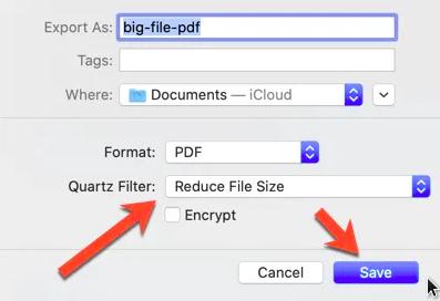 cara mengecilkan ukuran file pdf di mac