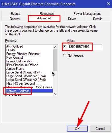 cara mengubah mac address di windows